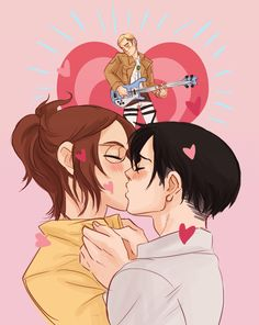 LEVIHAN (ノ◕ヮ◕)ノ*:・゚✧ Art by drinkyourfuckingmilk.tumblr.com ERWIN IN THE BACK THO XD