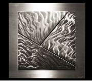 Elan - compose of three triangular metal art piece