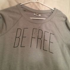 Be free shirt Long sleeve grey great shape Old Navy Tops Tees - Long Sleeve