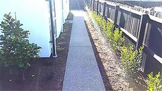 Exposed aggregate pavers concrete cement walkway for Pavers christchurch