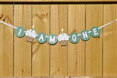 This St. Patricks Day themed I AM ONE banner is the perfect size to hang from your little ones high chair or at a 1st birthday photo shoot.