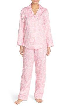 f8339cdf71 Lauren Ralph Lauren Petite Printed Cotton Pajama Set - Ivory Floral ...
