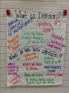 What is division anchor chart - Great to start unit on division (picture only)