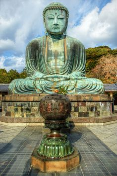 The Great Buddha of Kamakura (Kamakura Daibutsu), Kotokuin Temple, Japan by Dmitry Valberg