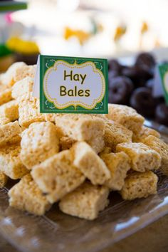 Use rice crispy treats as hay bales, why didn't I think of that?!