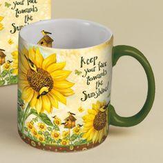 Sunflowers Coffee Mug 14oz , 5021037 | Lang