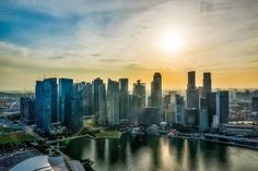 Looking at the CBD Skyline at sunset from Marina Bay Sands, Singapore. (photo by @adrianoleitephoto on instagram)
