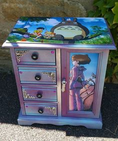 Studio Ghibli Jewellery Box - Found on Facebook, source unknown Jewellery Box Makeover!