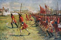 Spain / Battles..Guerra de Sucesión Española 1701 - Brigadier Rose's brigade advances: Battle of Blenheim 2nd August 1704 in the War of the Spanish Succession: click here to buy this picture