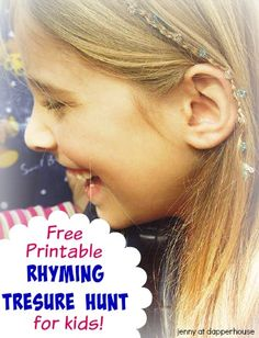 Free Printable Rhyming Treasure Hunt for Kids!