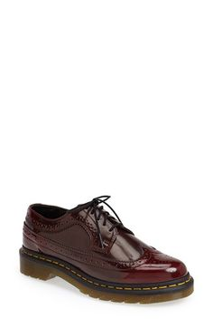 Free shipping and returns on Dr. Martens 'Vegan 3989' Wingtip Shoe (Women) at Nordstrom.com. Classic broguing lends menswear style to a faux-leather oxford constructed with a subtle two-tone finish.