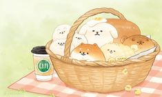 Cute Food Drawings, Cute Animal Drawings Kawaii, Cute Cartoon Drawings, Cartoon Art Styles, Kawaii Chibi, Cute Chibi, Kawaii Art, Cute Food Art, Cute Art