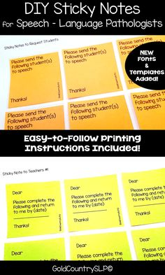 SLPs: Make your life EASIER! Simply print and use. Saves time! Easy printing instructions included.