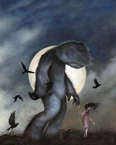 Dan May's surreal and mysterious forest creatures - Bleaq Art Of Dan, Look Dark, May Arts, Forest Creatures, Cute Monsters, Monster Art, Whimsical Art, Tarot, Canvas Art Prints