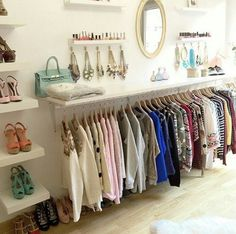 Room closet, no closet bedroom, dressing area, dressing room decor, wardrob Dressing Room Design, Dressing Rooms, Dressing Room Closet, Dressing Area, Glam Room, Master Closet, Wardrobe Closet, Capsule Wardrobe, Closet Space