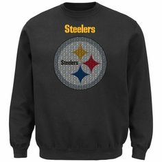 Pittsburgh Steelers Majestic Critical Victory Crew Sweatshirt - Black