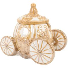 Disney Cinderella's Carriage Ceramic Cookie Jar ($52) ❤ liked on Polyvore featuring home, kitchen & dining, food storage containers, black, ceramic cookie jars, disney, disney cookie jar, ceramic food storage containers and pumpkin cookie jar