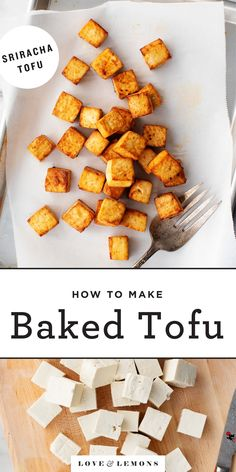 Learn how to cook tofu like a pro! With its crisp, firm texture and bold flavor, my easy baked tofu recipe is great for adding to bowls, stir fries, and more! Tofu Recipes, Indian Food Recipes, Cooking Recipes, Healthy Recipes, Dinner Recipes, Muffin Recipes, Eat Healthy, Asian Recipes, Vegetarian Dinners