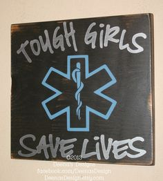 Female Paramedic Wall Hanging EMS Decor Distressed by DeenasDesign, $32.00