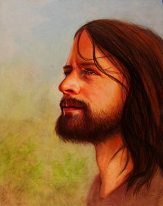 Portrait of the Savior A fine Art Print of Jesus by RiaFineArts,