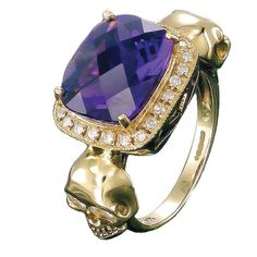 Amethyst princess skull ring. Now there's a gift idea boys that aligns with the birthstone for this month. #zoeandmorgan #rings
