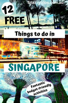 Not everything in Singapore is expensive. Here are 12 fantastic, fun and free things to do in Singapore that you will enjoy without breaking the bank. Singapore Travel Tips, Singapore Itinerary, Travel Inspiration, Travel Ideas, Travel Advice, Budget Travel, Travel Guide, Bali Travel, Travel Abroad