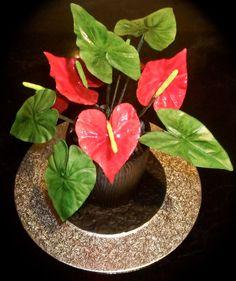 Anthurium flower cake