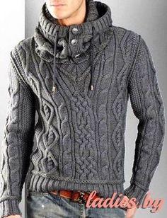 Серый пуловер со снудом от Dolce&Gabbana