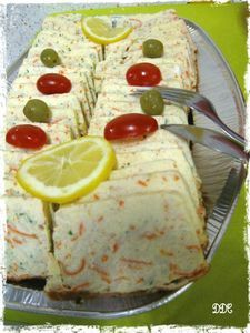 Surimi terrine - DDcuisine - Another recipe from my mom& birthday buffet … Before testing the tuna terrine and this suri - Quick Dessert Recipes, Egg Recipes, Other Recipes, Brunch Recipes, Gourmet Recipes, Cake Recipes, Breakfast Recipes, Cooking Recipes, Vanilla Recipes