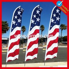custom outdoor swooper flag pole