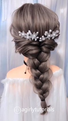 Beautiful Unique Hairstyle for Long Hair Part 8 – Diy Hairstyles Bun Hairstyles For Long Hair, Braids For Long Hair, Unique Hairstyles, Girl Hairstyles, Easy Elegant Hairstyles, Braids Easy, Hair Up Styles, Medium Hair Styles, Long Hair Video