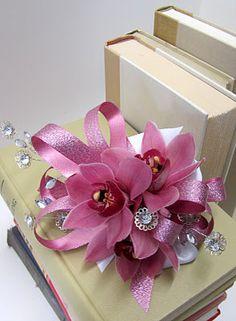 pink mini cymbidium orchids