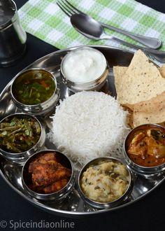 Lunch / Diner Menu 2  South Indian Non -vegetarian lunch menu 1