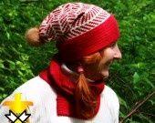 bonnet en Alpaga, chevrons : Chapeau, bonnet par aufildesneiges sur ALittleMarket