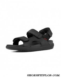 0e38d6b8f Fitflop Mens Sandals Landsurfer Black Sport Sandals