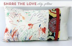 Share the love pillow DIY www.aliceandlois.com