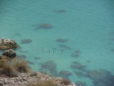Cala de San Pedro en Almería. España