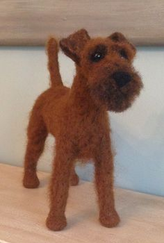 Needle feled Irish terrier