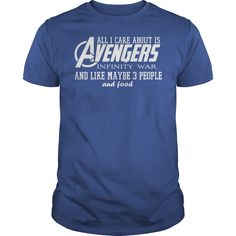 All I Care About is Avengers Infinity War and Like Maybe 3 People and Food Shirt is perfect shirt for men and women. This shirt is designed with 100% cotton, more color and style: t-shirt, hoodie, sweater, tank top, longsleeve, youth tee. Great gift for you and your friend. They will love it. Click button bellow to see price and buy it! >>> https://imgshirt.com/tees/avengers-infinity-maybe-shirt/