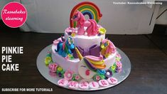 My little pony pinkie pie rainbow dash fluttershy birthday cake design i...