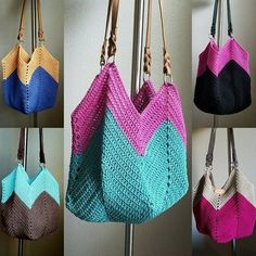 This popular crochet bag is quite easy to make. It's a perfect project for beginners to learn basic crochet stitches and the result will make you proud! Crochet Shell Stitch, Crochet Rope, Basic Crochet Stitches, Crochet Hook Sizes, Tapestry Crochet, Crochet Basics, Bead Crochet, Crochet Patterns, Crochet Beach Bags