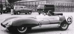 1958 24 Hours Le Mans : Graham Hill, Lotus 15 #26, Team Lotus Engineeering. (ph: 8w.forix.com)