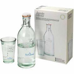 JAMIE OLIVER Garrafa de água com copo. brindes promocionais
