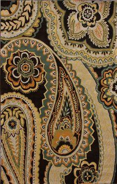 Rugs USA Moderna Paisley Chocolate Rug