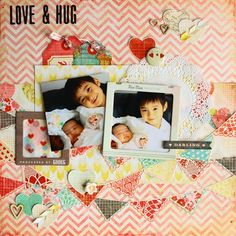 LOVE&HUG - Scrapbook.com American Crafts - Crate Paper - Fourteen Collection