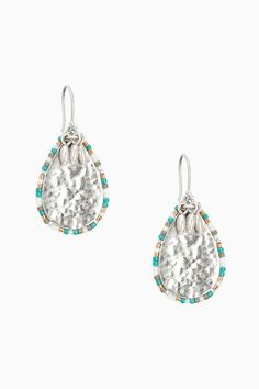 Teal, grey, and metallic beads surround hammered vintage silver teardrop earrings. Perfect for spring or summer occasions. Shop the Frieze Teardrop Earrings only at Stella & Dot. Cluster Earrings, Bead Earrings, Teardrop Earrings, Silver Earrings, Fashion Earrings, Fashion Jewelry, Popular Necklaces, Jewelry Party, Selling Jewelry