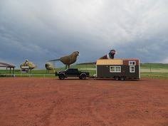 Giant pheasants on the Enchanted Highway in North Dakota!  see more at brevardtinyhouse.com