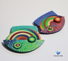 polymer clay pendant Daniela Klein
