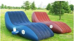 Wholesale S-Shape Inflatable Sofa,Garden Sofa,Inflatable Beach Sofa Chair Red Blue gyyy, Free shipping, $135.15-149.41/Piece | DHgate