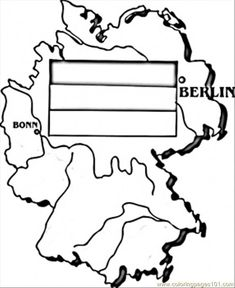 Map Of Germany Coloring Page Flag Coloring Pages Germany Map Free Kids Coloring Pages